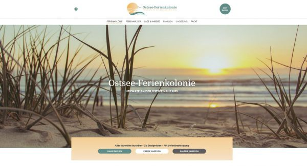 New website Ostsee-Ferienkolonie with online bookability